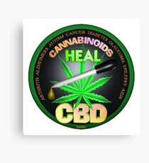 CBD Cannabinoids in Hemp oil Cures  learn truth about use of hemp oil to cure illness and pains. Canvas Print