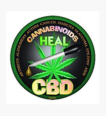 CBD Cannabinoids in Hemp oil Cures  learn truth about use of hemp oil to cure illness and pains. Photographic Print