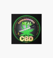 CBD Cannabinoids in Hemp oil Cures  learn truth about use of hemp oil to cure illness and pains. Art Board