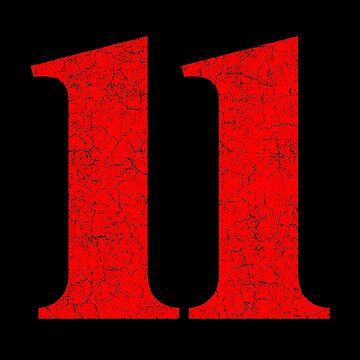 Number Eleven 11 by melvtec