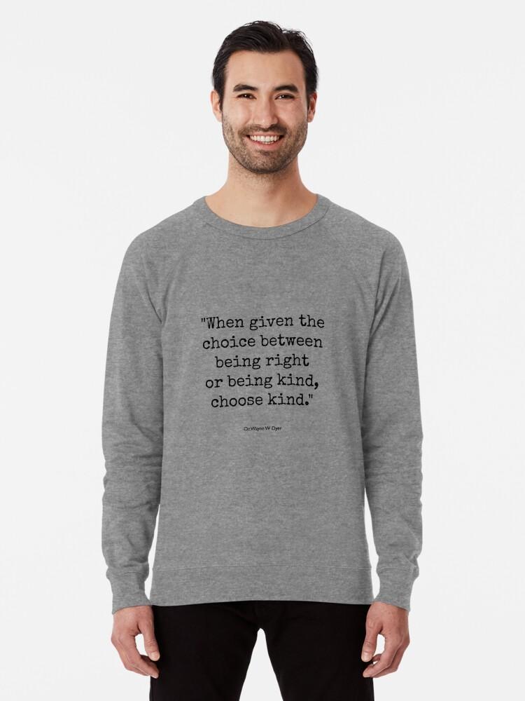 'Wonder - Choose Kind' Lightweight Sweatshirt by AngieBlakeley
