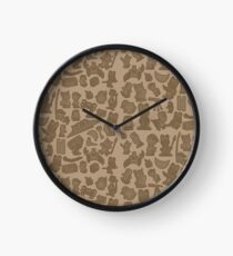 Viking Bunny Map Pattern Clock