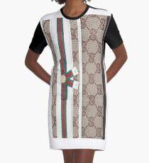 Wallet Texture Graphic T-Shirt Dress