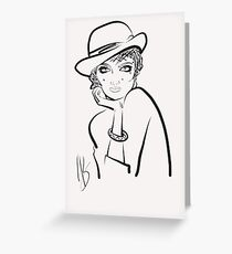 Lady Greeting Card