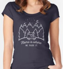 Home is Where We Park it Women's Fitted Scoop T-Shirt