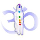 Chakra Mediation-White with OM by m2inspiration