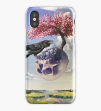 """""""Secondhand"""" Original Oil Painting with Raven and Floating Skull iPhone Case/Skin"""