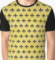 ROYAL1 BLACK MARBLE & YELLOW WATERCOLOR (R) Graphic T-Shirt