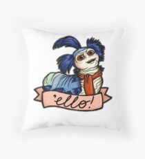 Ello - Labyrinth Worm Throw Pillow