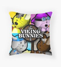 Viking Bunnies Pop Art Throw Pillow