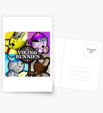 Viking Bunnies Pop Art Postcards
