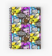 Viking Bunnies Pop Art Spiral Notebook