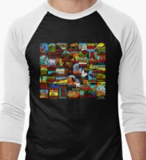 American National Parks Vintage Travel Decal Bomb T-Shirt