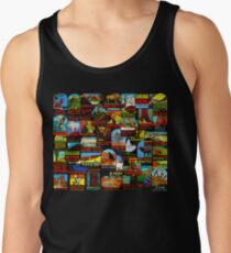 American National Parks Vintage Travel Decal Bomb Tank Top