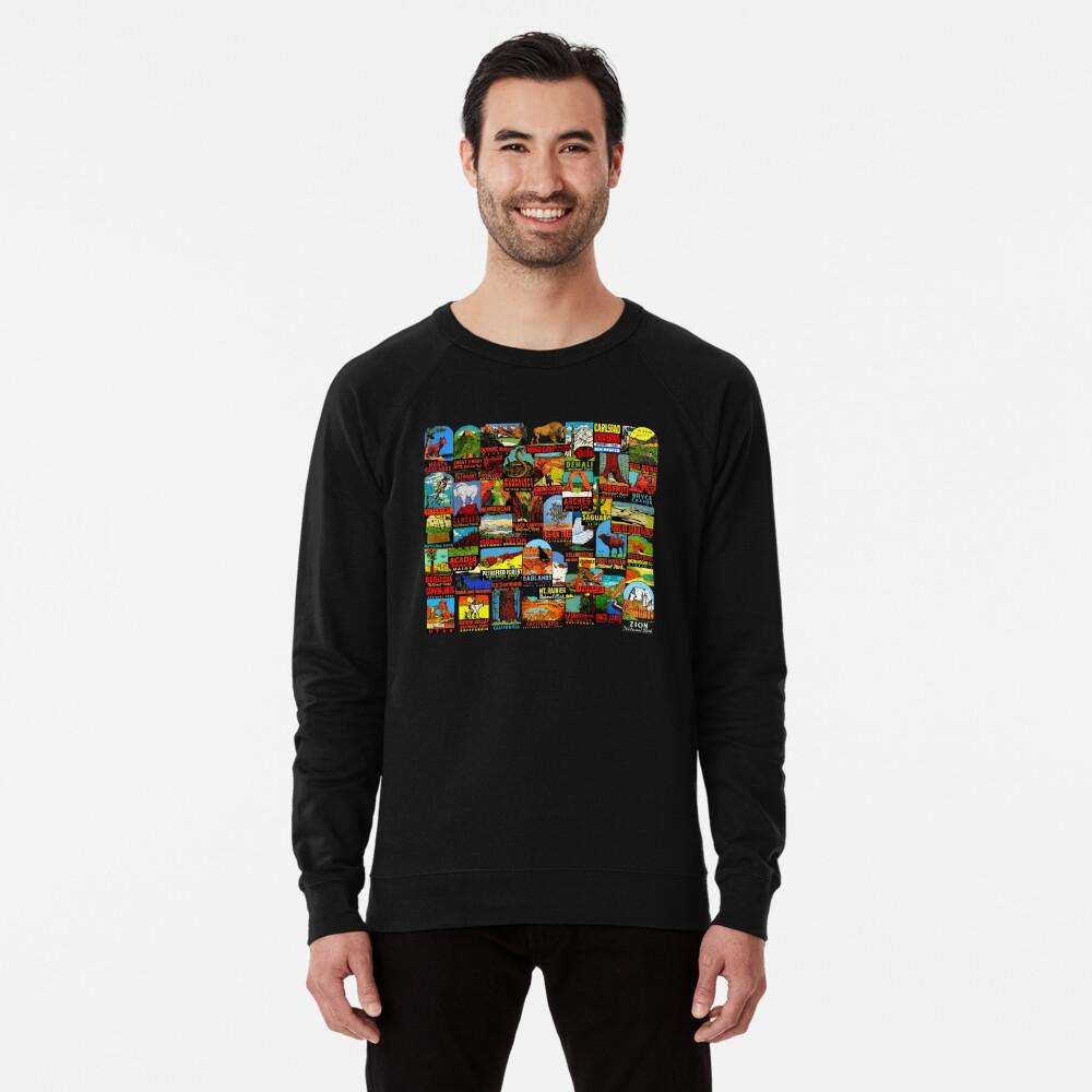 American National Parks Vintage Travel Decal Bomb Lightweight Sweatshirt