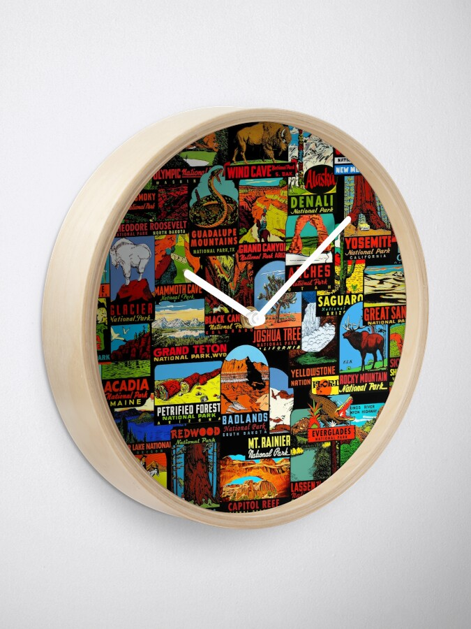 Alternate view of American National Parks Vintage Travel Decal Bomb Clock