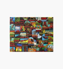 American National Parks Vintage Travel Decal Bomb Art Board