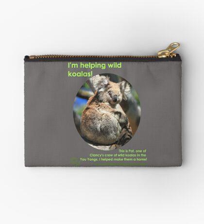 I'm helping wild koalas - Pat Zipper Pouch