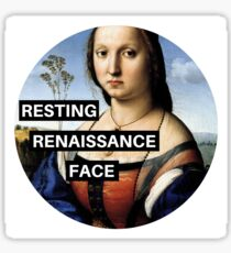 RESTING RENAISSANCE FACE Sticker