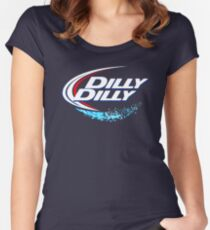 DILLY Women's Fitted Scoop T-Shirt