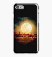 Fire Moon over New London-on-Thames iPhone Case/Skin
