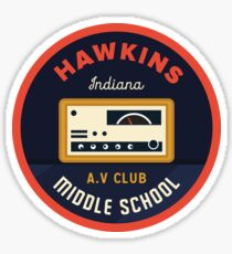 Hawkins AV Club Sticker