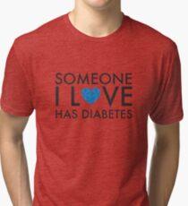 Someone I love has Diabetes Tri-blend T-Shirt