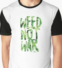 Weed Not War Graphic T-Shirt