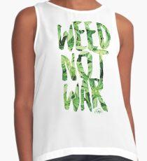 Weed Not War Contrast Tank