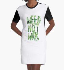 Weed Not War Graphic T-Shirt Dress