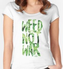 Weed Not War Women's Fitted Scoop T-Shirt