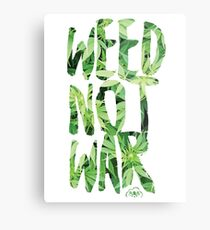 Weed Not War Metal Print