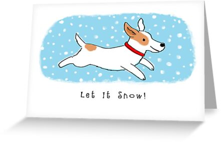 Snow Dog Holiday Greeting Cards By Jenn Inashvili Redbubble