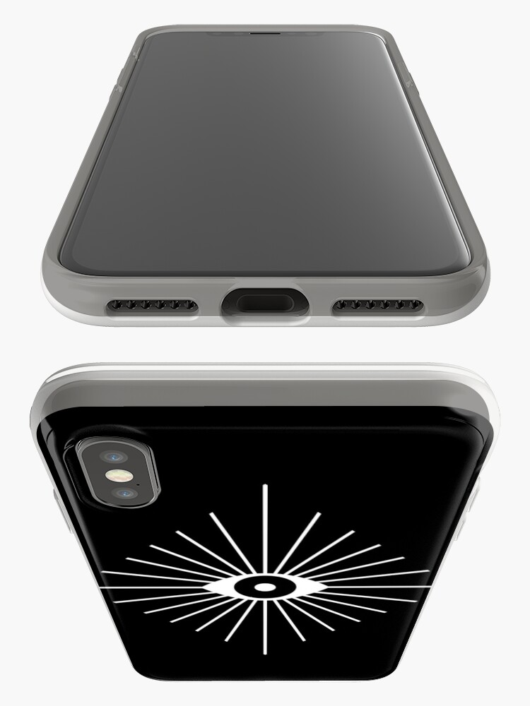 Alternate view of Electric Eyes - Black and White iPhone Case & Cover