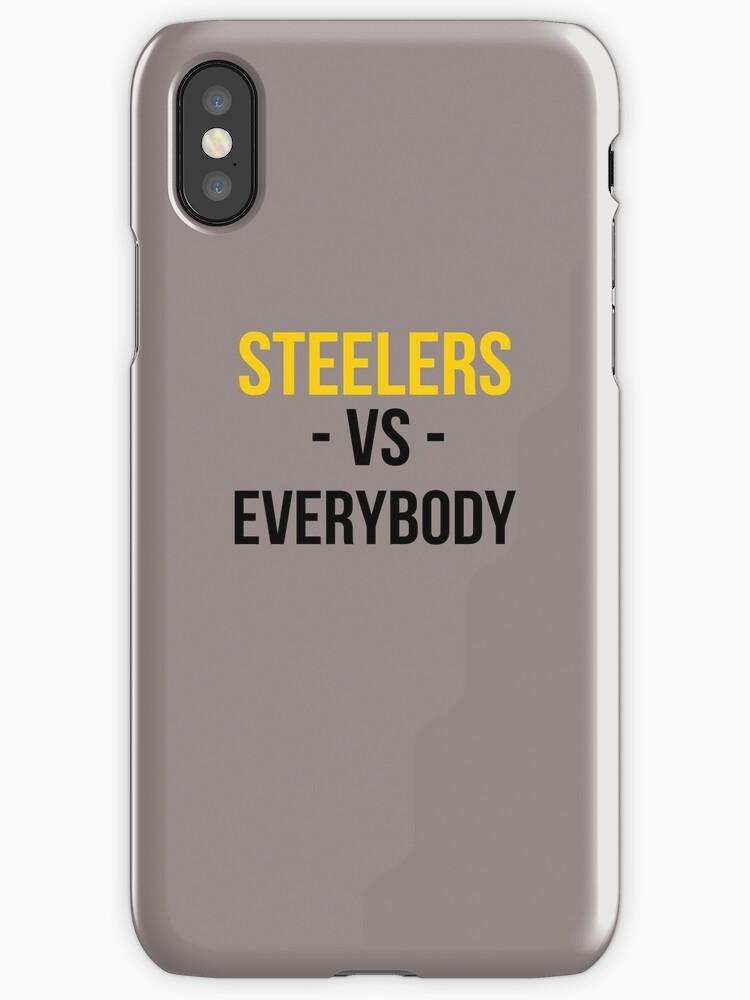 Vinilos y fundas para iPhone «Pittsburgh Steelers vs. Todos» de ...