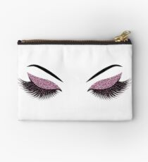 Glittery burgundy lashes illustration Studio Pouch