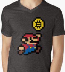 Bitcoin Mario Men's V-Neck T-Shirt