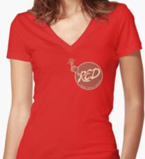 Red Team - Reliable Excavation Demolition Women's Fitted V-Neck T-Shirt