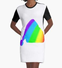 rainbow santa Graphic T-Shirt Dress