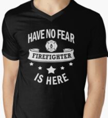 Firefighter Have No Fear Birthday Cool Funny Men's V-Neck T-Shirt