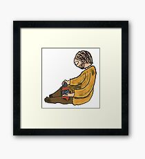 Flint Knapping Framed Print