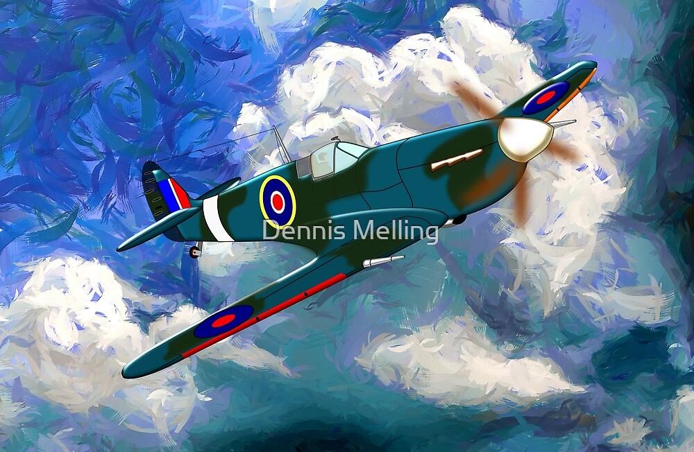 Supermarine Spitfire WWII by Dennis Melling