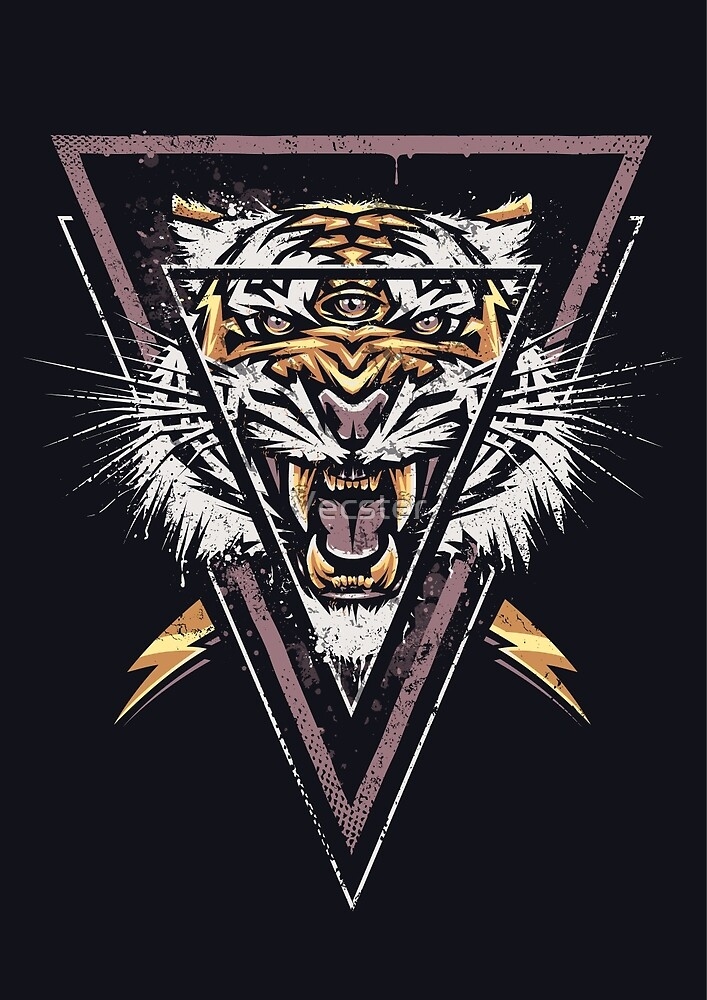 Thee-eyed Tiger by Vecster