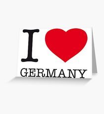 I ♥ GERMANY Greeting Card