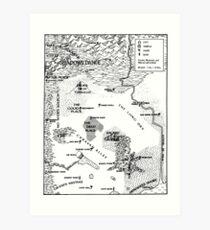 RQ2 PRAX Map (pairs with RQ2 DRAGON PASS Map) Art Print