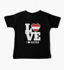 Love Austria T-Shirt Patriotic Austrian Expat Baby Tee