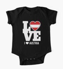 Love Austria T-Shirt Patriotic Austrian Expat One Piece - Short Sleeve