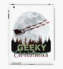 Geeky Christmas Design for Tech Geeks - Merry Christmas iPad Case/Skin