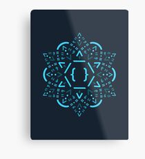 Code Mandala - React Framework Metal Print