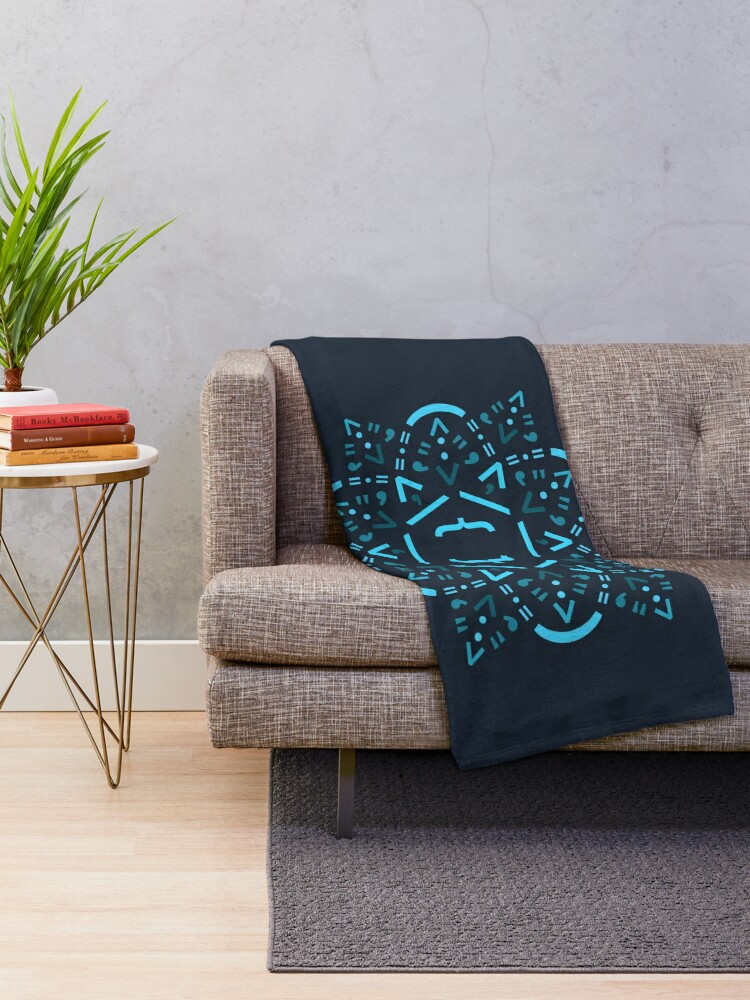 Alternate view of Code Mandala - React Framework Throw Blanket